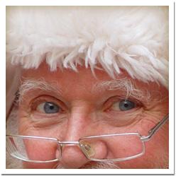 close up santa