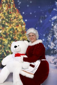 Mrs Claus with Bear