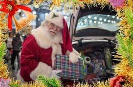 Mercedes Car Show Santa