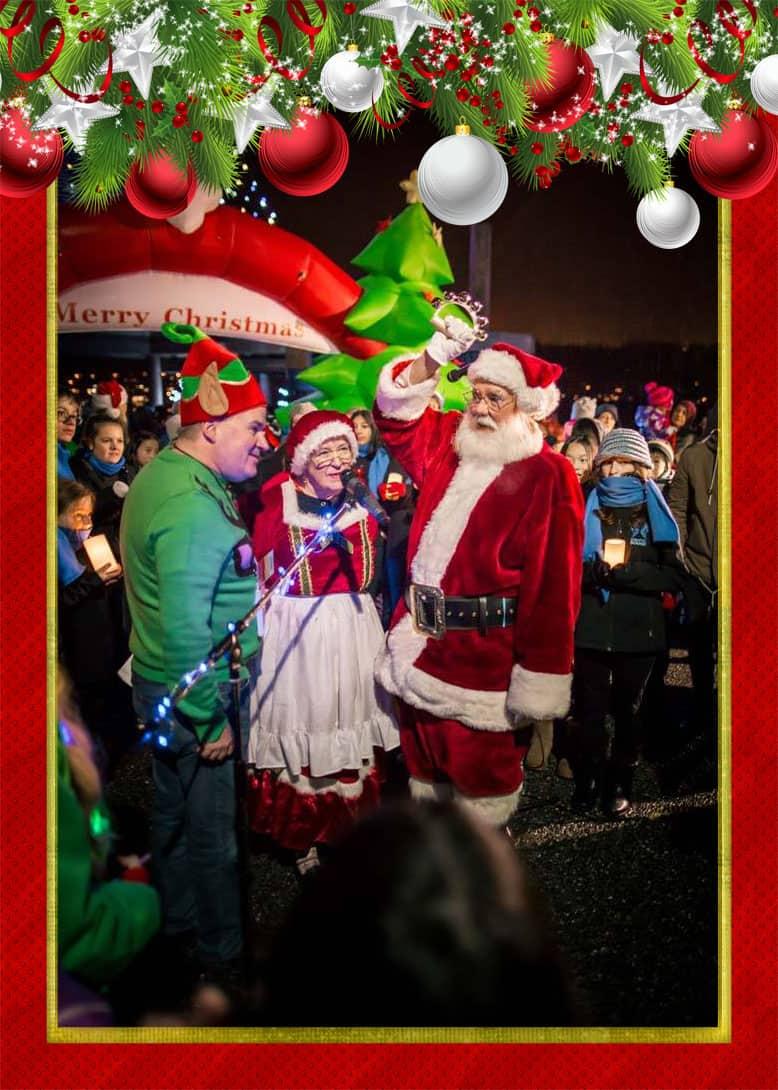 Port Moody Santa with helpers