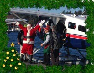 Santa and Seaplane