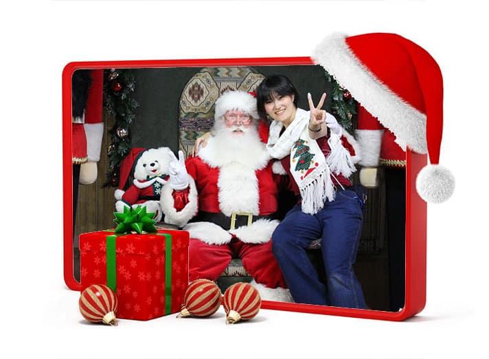 Santa Michael with Elf Chris
