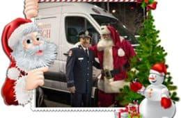 Toronto Santa with Fireman